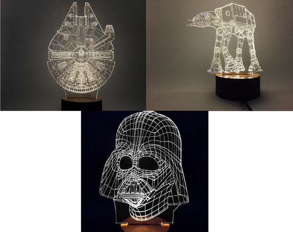 NEW! Star Wars 3D LED Lamps! FREE SHIPPING!