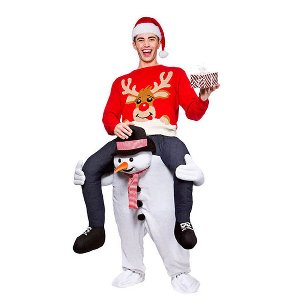 NEW! 2017 SNOWMAN CARRY ME RIDE ON MASCOT COSTUME - FREE SHIPPING