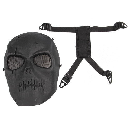 Skull Skeleton Paintball - Full Face Mask - Foam padded inside Black eye shield
