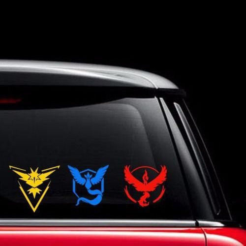 NEW Pokemon Go Vinyl Decal - Team Instinct, Mystic, Valor Window laptop phone tablet Wall Stickers