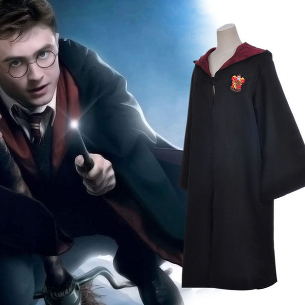 Adult/Childrens Halloween Harry Potter Cloaks Gryffindor/Ravenclaw/Slytherin/Hufflepuff - + FREE TIE!