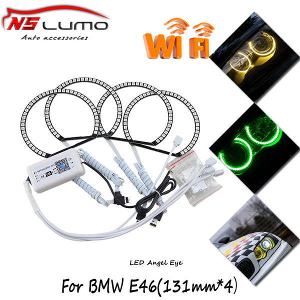 Multi Color Led Halos -Smart Phone for BMW E38 E39 E46 3 5 7 Series