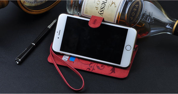 NEW 2016 - Genuine Leather Flip Wallet Cover iPhone Case All iPhone Models iPhone 5 / 6 / 6Plus 6S Plus - FREE SHIPPING