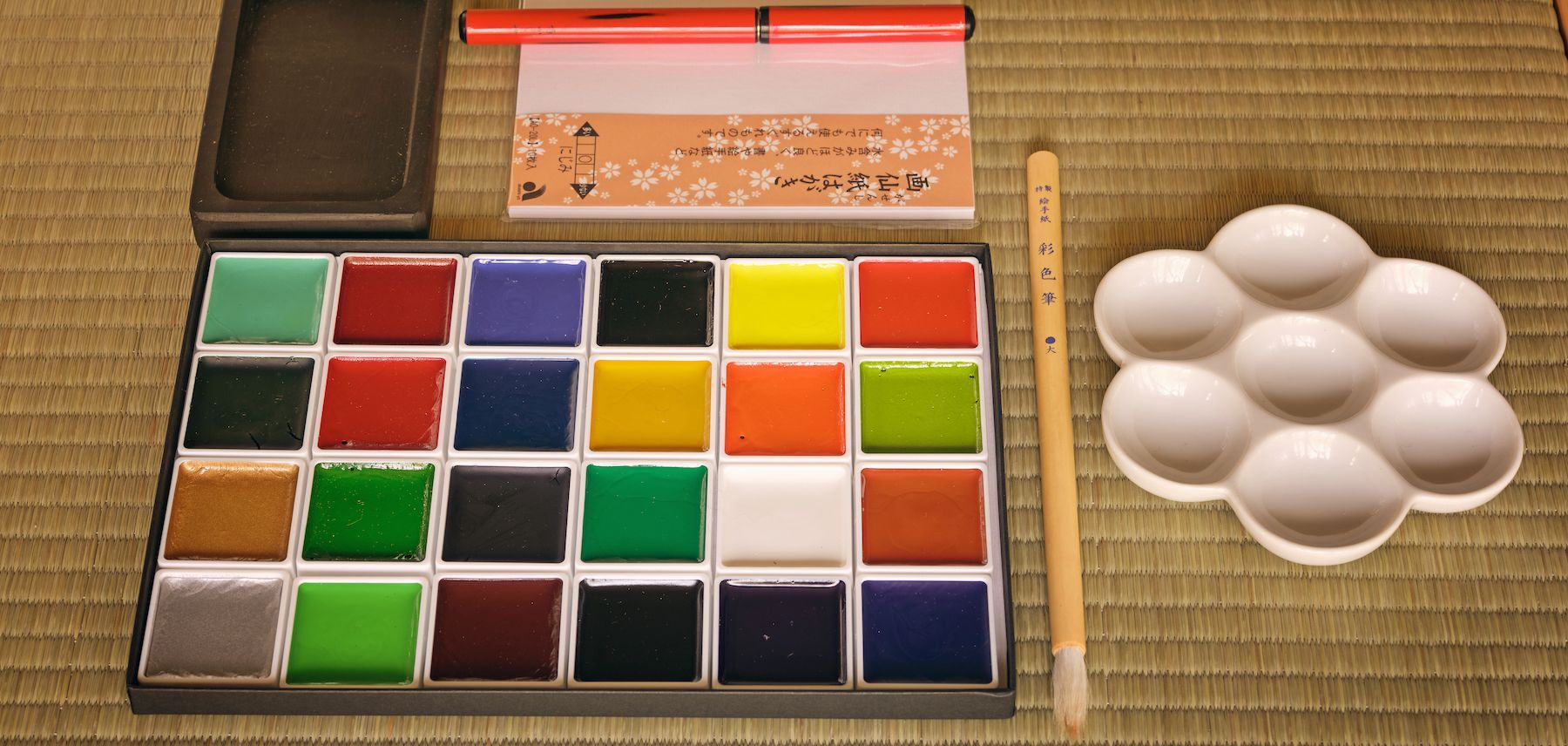 akashiya gansai and art supplies from japan