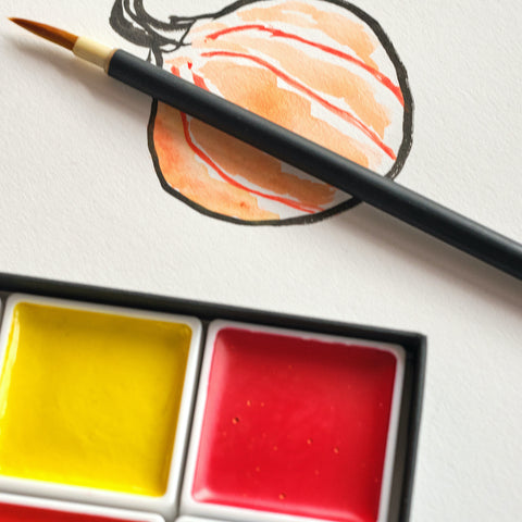 introduction to akashiya gansai japanese watercolour paints