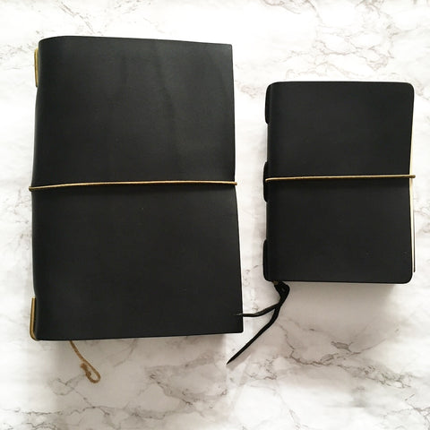 The Superior Labor leather notebook covers with hobonichi planners