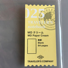 travelers notebook 025 md paper cream refill
