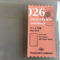 Travelers notebook 026 dot grid refill