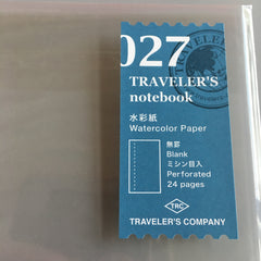 Travelers notebook 027 watercolor watercolour refill