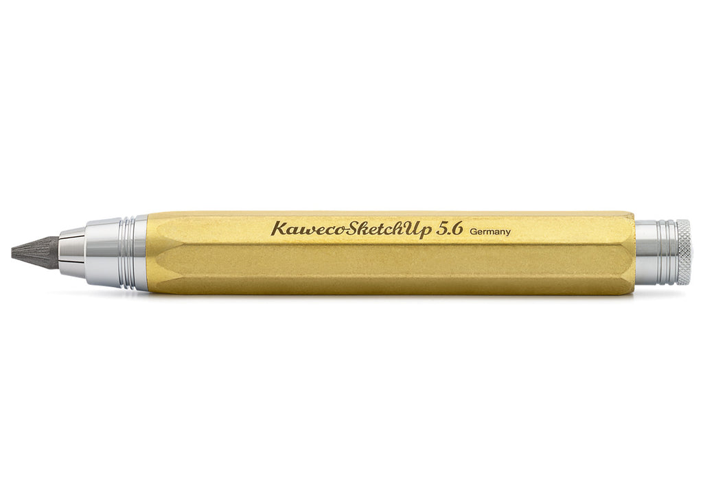Kaweco sketch up 8 - shape raw brass clutch pencil - NOMADO Store
