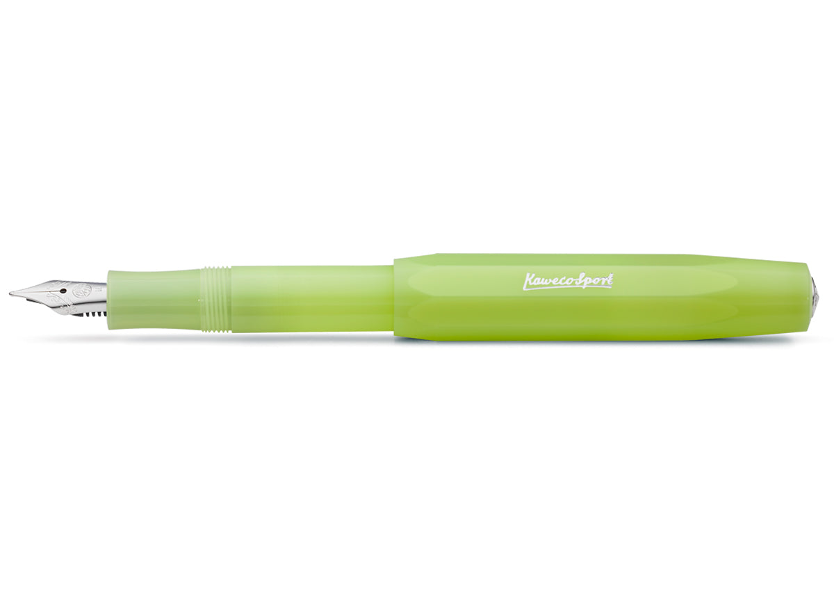 Kaweco Frosted Sport Fine Lime fountain pen - NOMADO Store