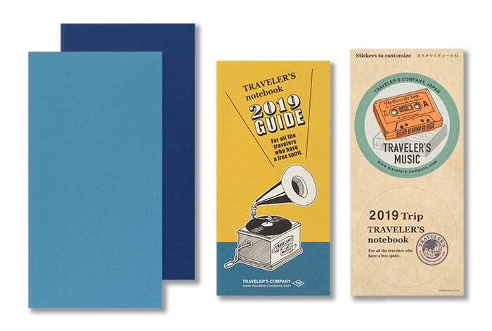 Traveler's Notebook Diary (Regular Size) - 2019 Weekly + Memo Refill PRE-ORDER