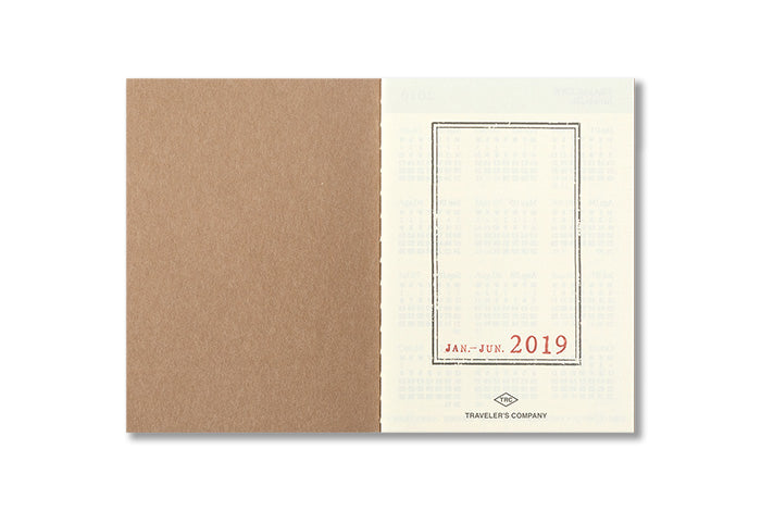 2019 Traveler's Notebook Diary (Passport Size) - Weekly. - NOMADO Store