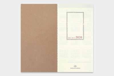 Traveler's Notebook Diary (Regular Size) - 2020 Weekly + Memo Refill. - NOMADO Store