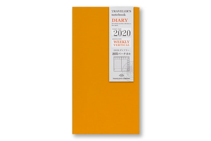 Traveler's Notebook Diary (Regular Size) - 2020 Weekly Vertical Refill. - NOMADO Store