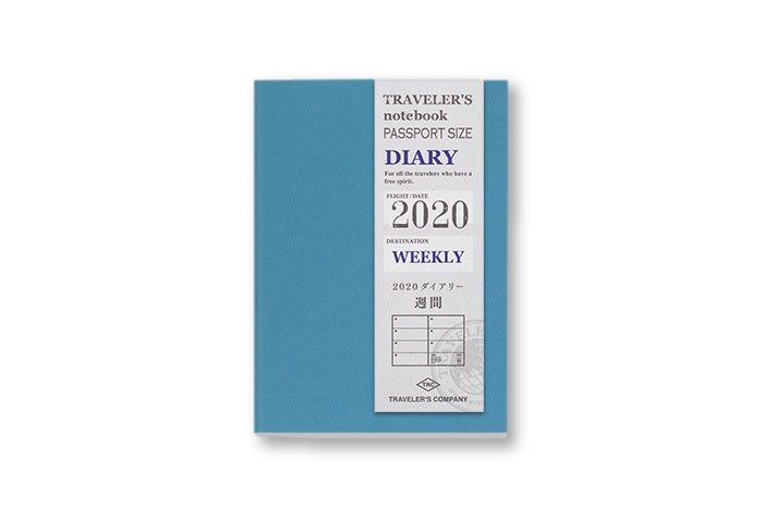 2020 Traveler's Notebook Diary (Passport Size) - Weekly. PRE ORDER - NOMADO Store