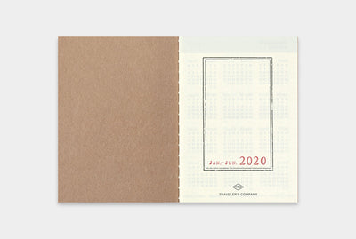 2020 Traveler's Notebook Diary (Passport Size) - Weekly. - NOMADO Store