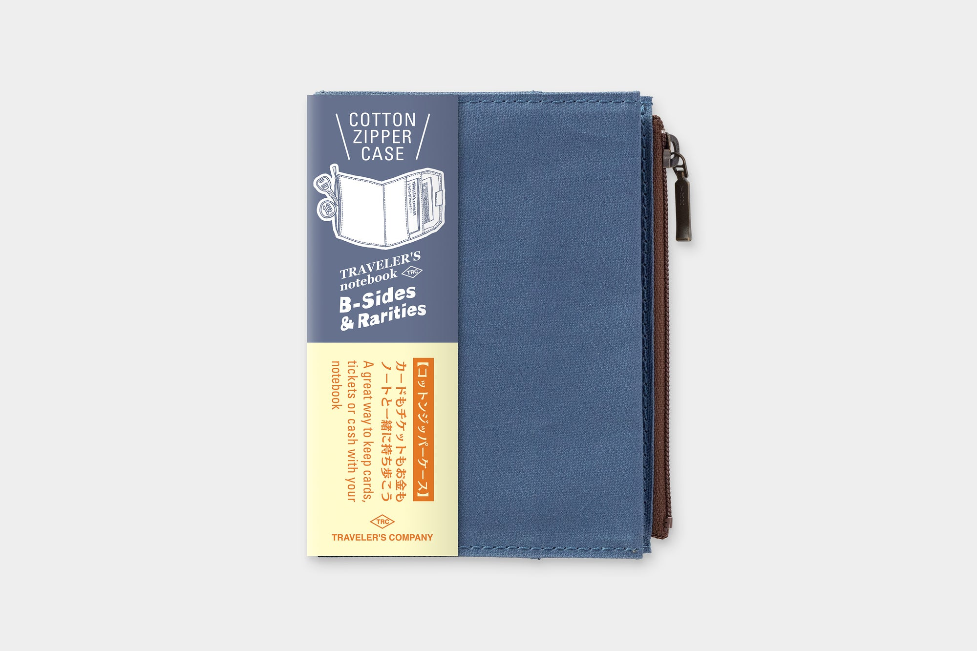 TRAVELER'S LTD Edition - TRAVELER'S notebook Passport Size Cotton Zipper Case Blue