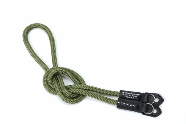 Artisan & Artist ACAM-301N Silk Cord Camera Strap - Ring Attachment  (khaki) - NOMADO Store