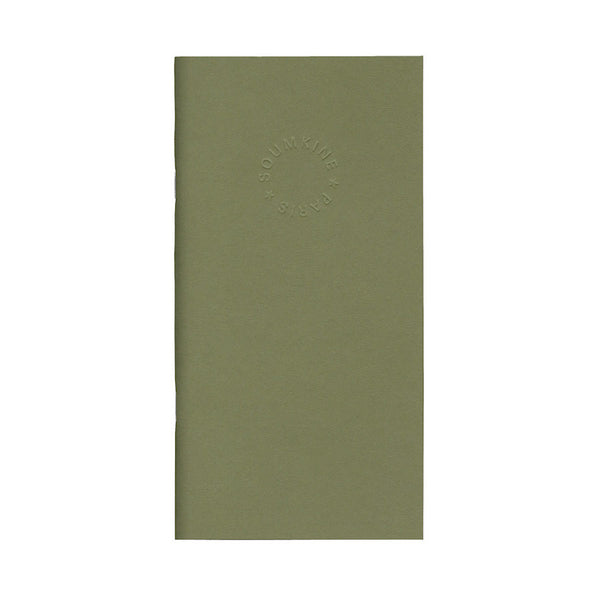 Soumkine A5 Slim Notebook - Olive (Dot-Grid, ruled or plain) - NOMADO Store