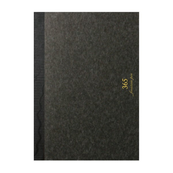 "365notebook FP (A6) ""sumi"" notebook for fountain pens (charcoal) - NOMADO Store"
