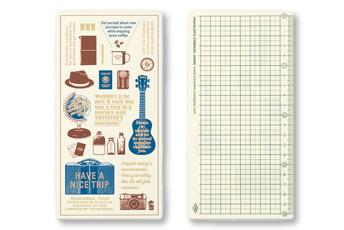 2020 Diary Traveler's Notebook Plastic Sheet (Regular size) - NOMADO Store