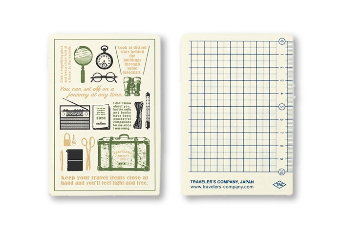 2020 Diary Traveler's Notebook Plastic Sheet Passport size. PRE ORDER - NOMADO Store