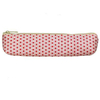 Akashiya Yuzen Japanese Paper Pen Case & Brush Pen (red)