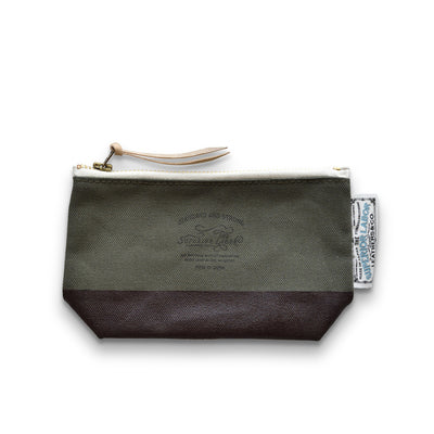 The Superior Labor Engineer pouch khaki/olive canvas, dark brown paint - NOMADO Store