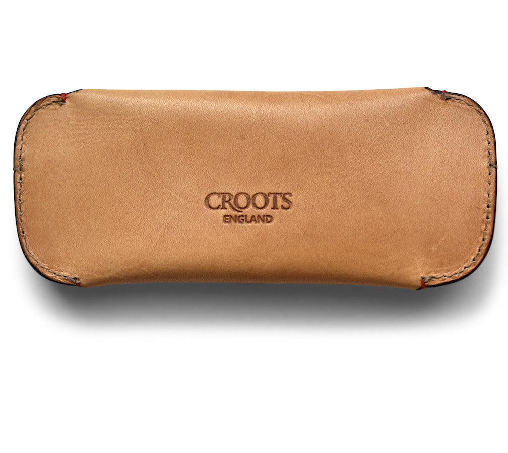 CROOTS VINTAGE LEATHER GLASSES CASE (natural) - NOMADO Store