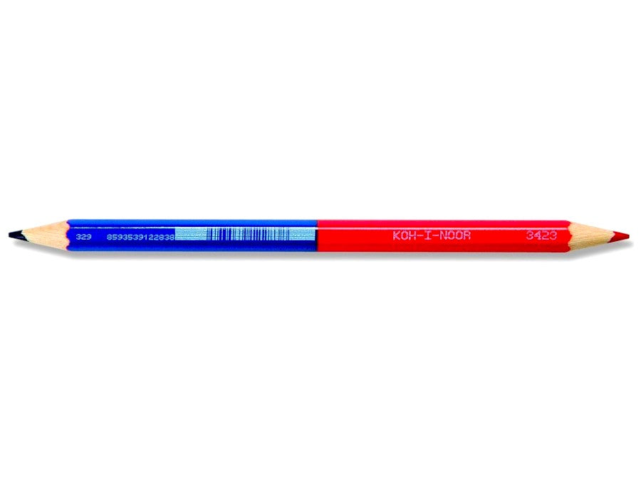 KOH-I-NOOR magnum office coloured pencil 3423 (red+blue) - Box of 12