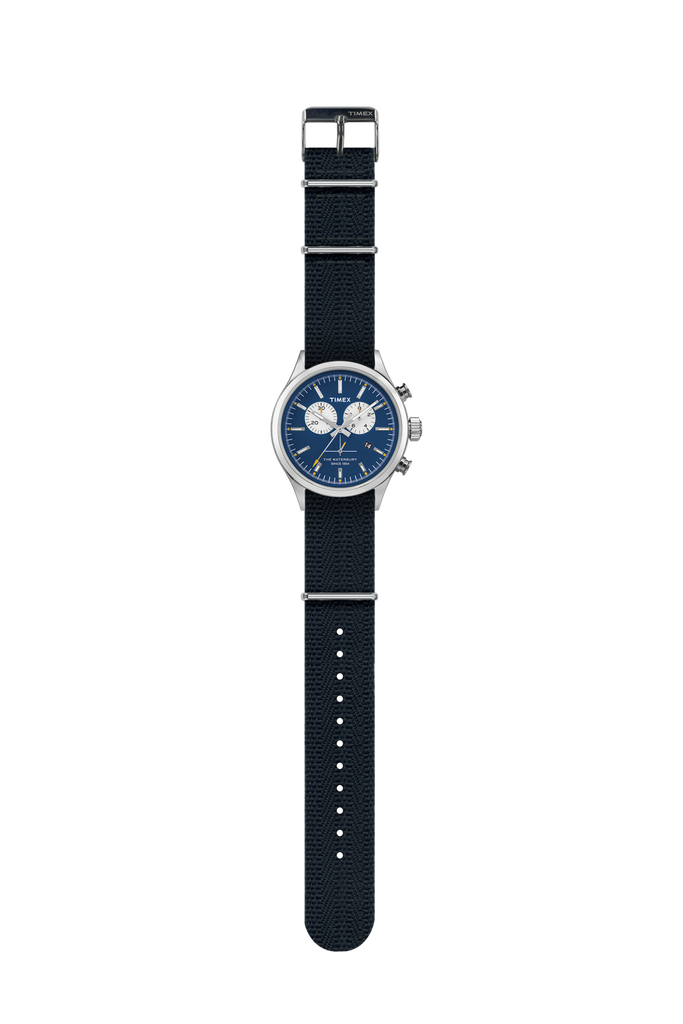 Timex Archive Waterbury Chronograph Steel/Blue Dial - NOMADO Store