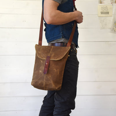 Peg and Awl The Hunter Satchel - Almond - NOMADO Store
