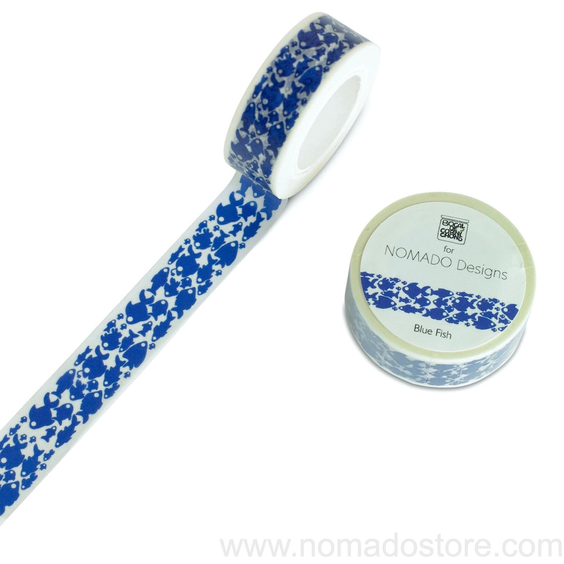 Bocal de Cornichons for Nomado Designs Blue Fish Washi Tape