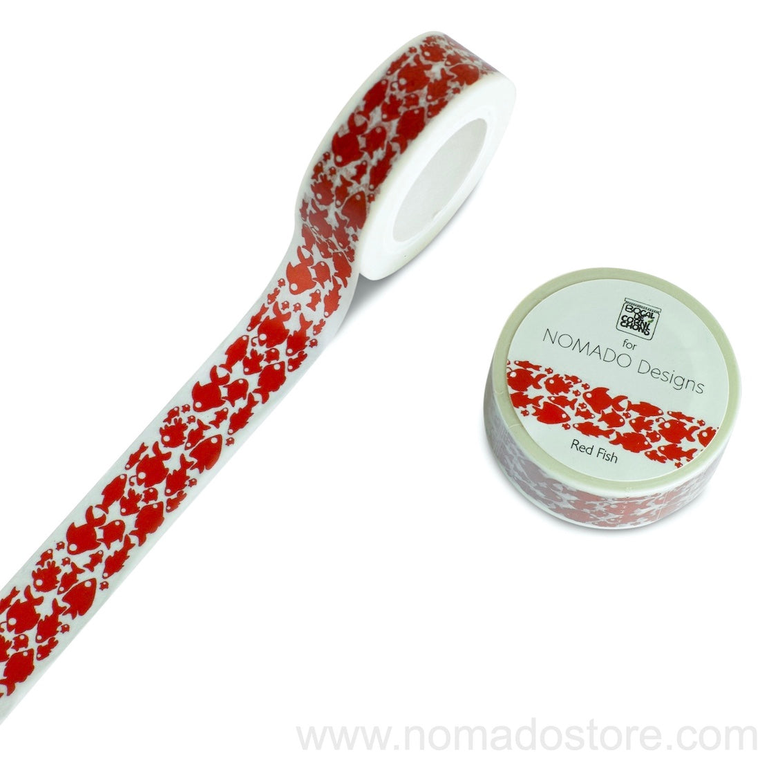 Bocal de Cornichons for Nomado Designs Red Fish Washi Tape