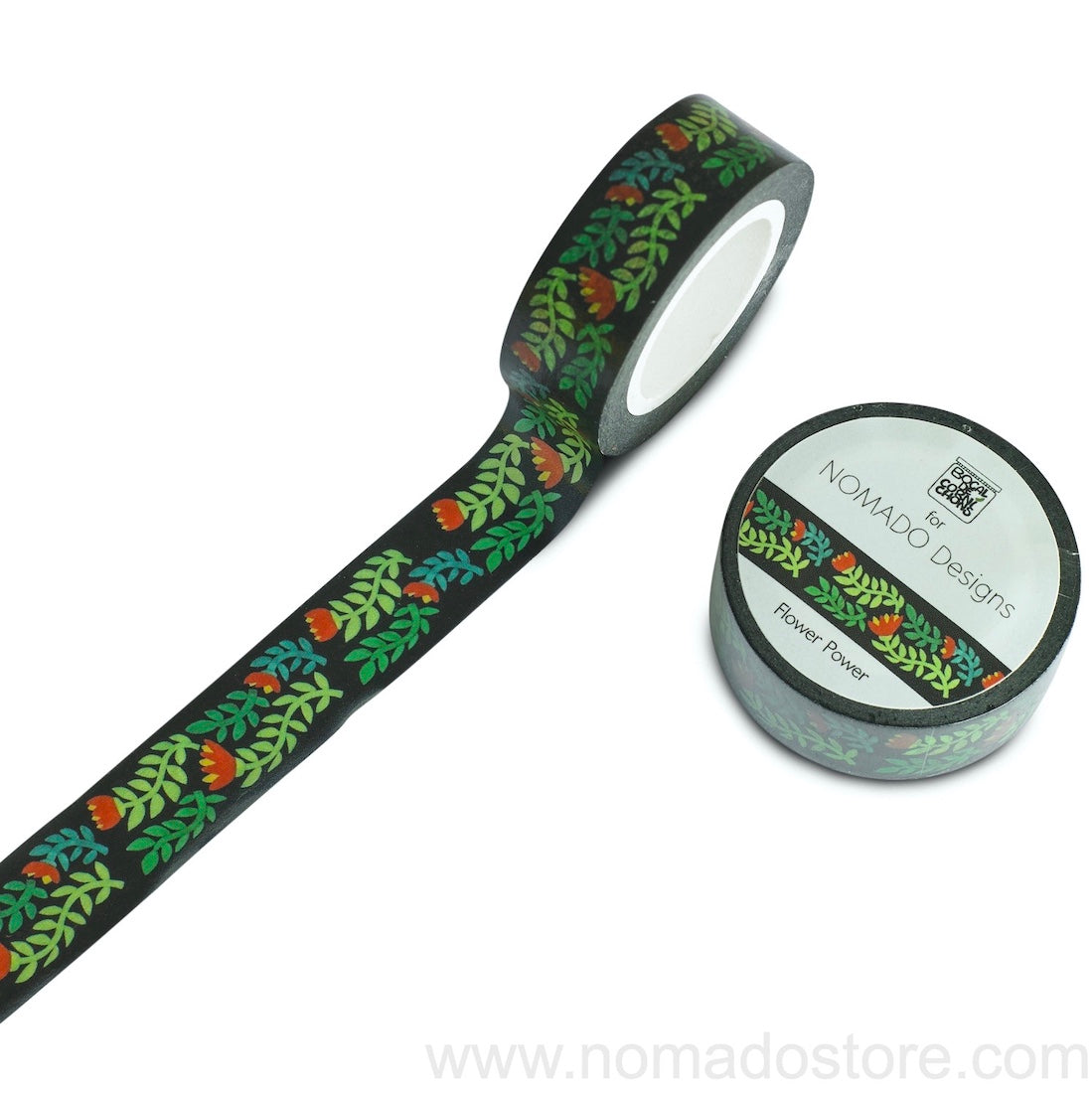 Bocal de Cornichons for Nomado Designs Flower Power Washi Tape