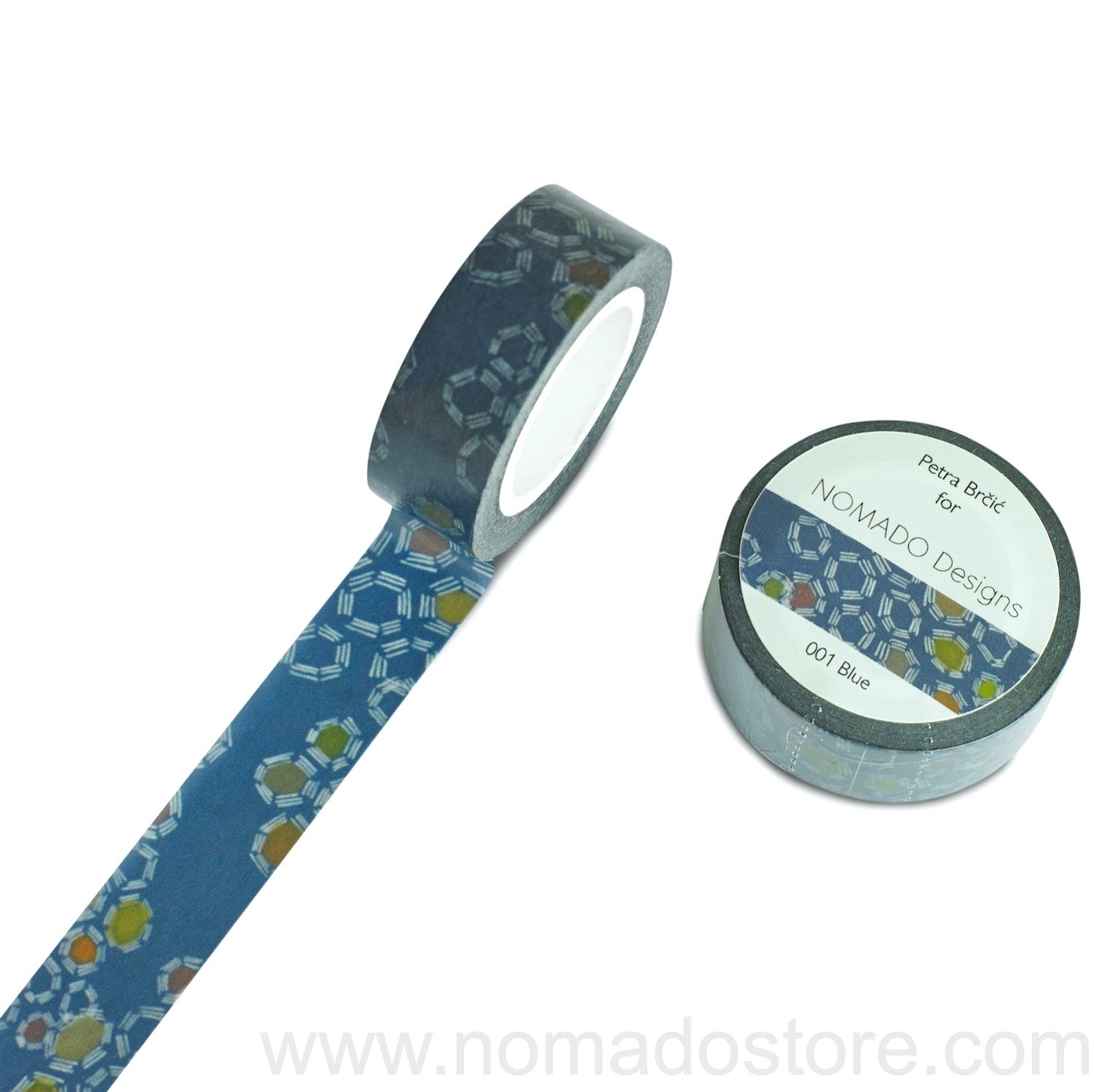Petra Brčić for Nomado Designs 001 Blue Washi Tape