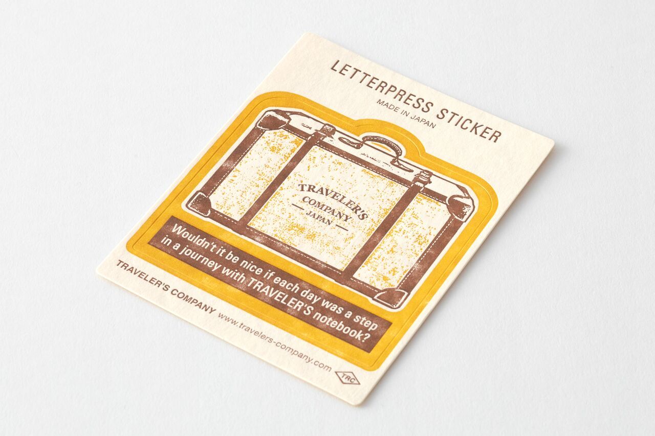TRAVELER'S LTD Edition - Travel Tools - Letterpress Sticker YELLOW