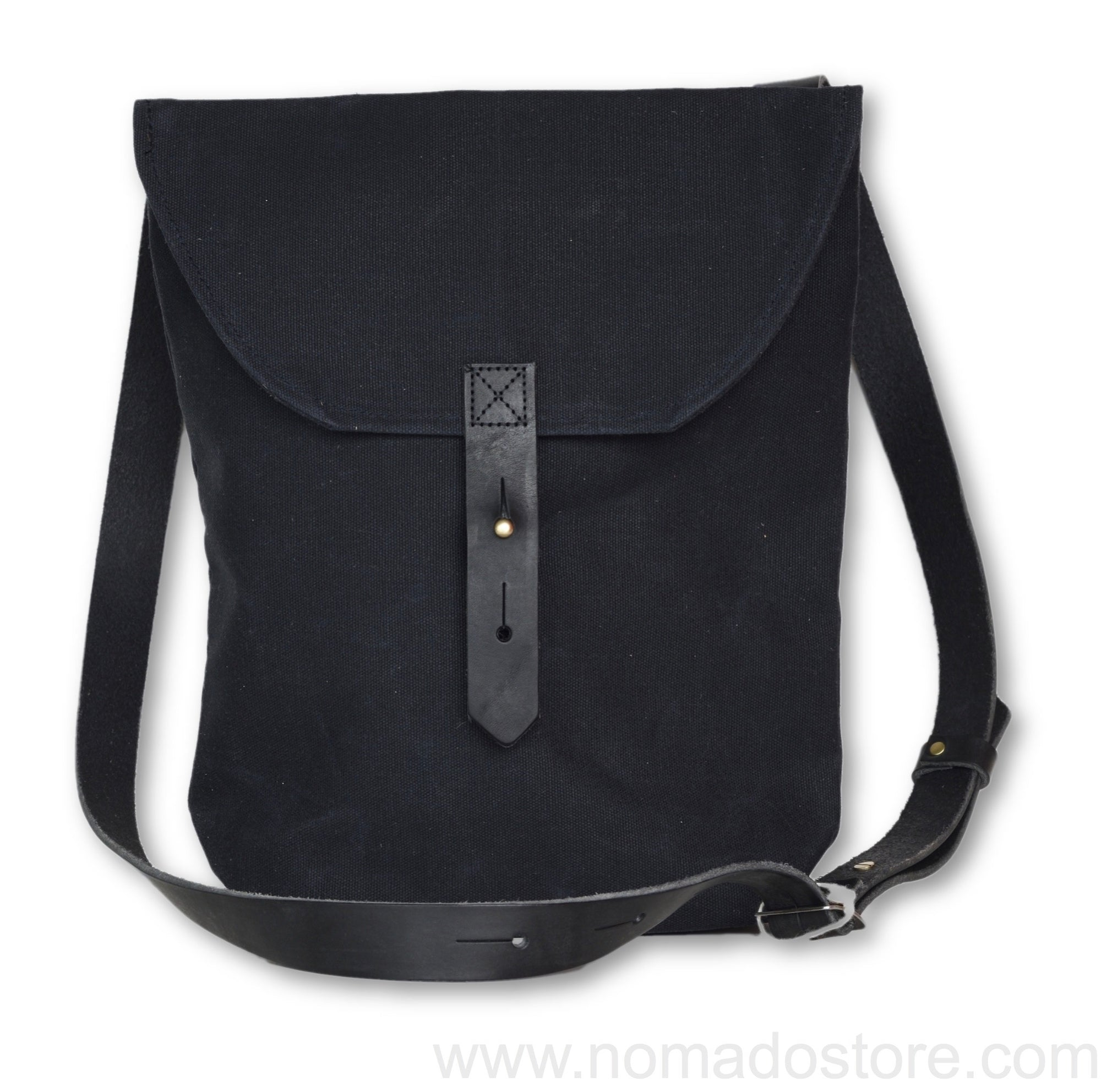 Peg and Awl The Hunter Satchel - All black - NOMADO Store