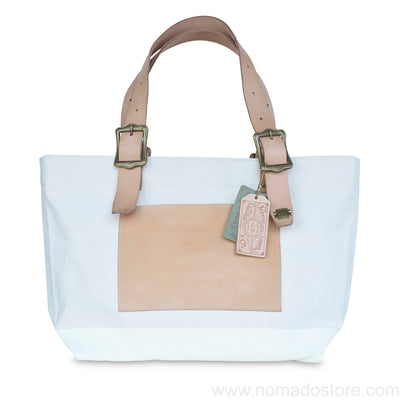 The Superior Labor Engineer Tote bag S natural body white paint - NOMADO Store