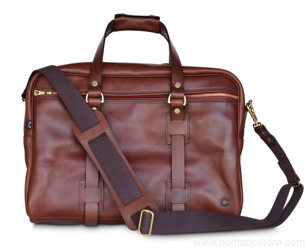 CROOTS VINTAGE LEATHER TRAVELLER BAG (Port) - NOMADO Store