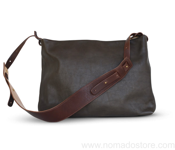 .urukust Leather Shoulder Bag S Dark Brown
