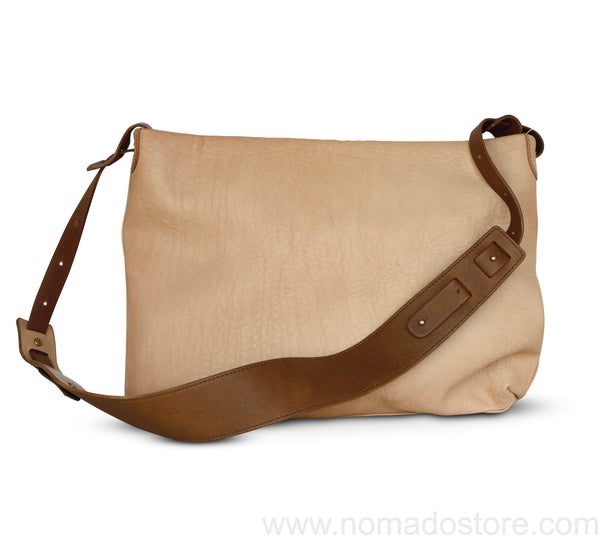 .urukust Leather Shoulder Bag S Beige Oak - NOMADO Store