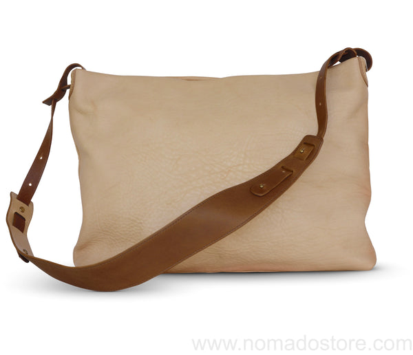 .urukust Leather Shoulder Bag L Beige Oak