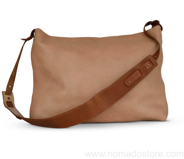 .urukust Leather Shoulder Bag L Beige Brown - NOMADO Store