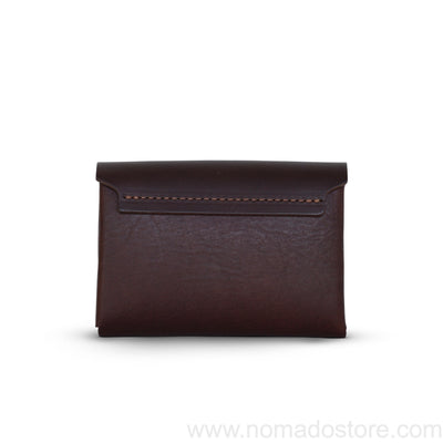 .Urukust Compact Wallet (Dark brown) - NOMADO Store