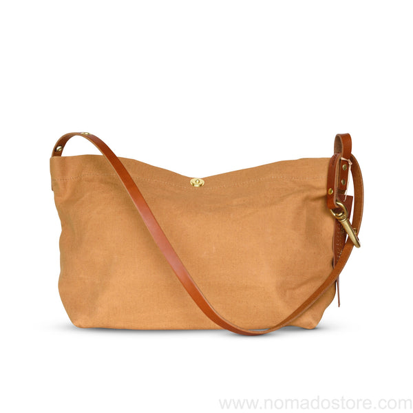 Marineday Fourship Linen Canvas Shoulder Bag (Mustard) - NOMADO Store