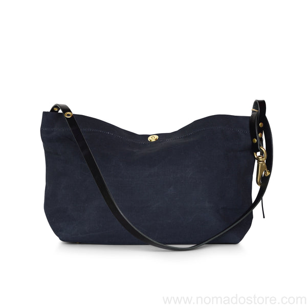 Marineday Fourship Linen Canvas Shoulder Bag (Black) - NOMADO Store