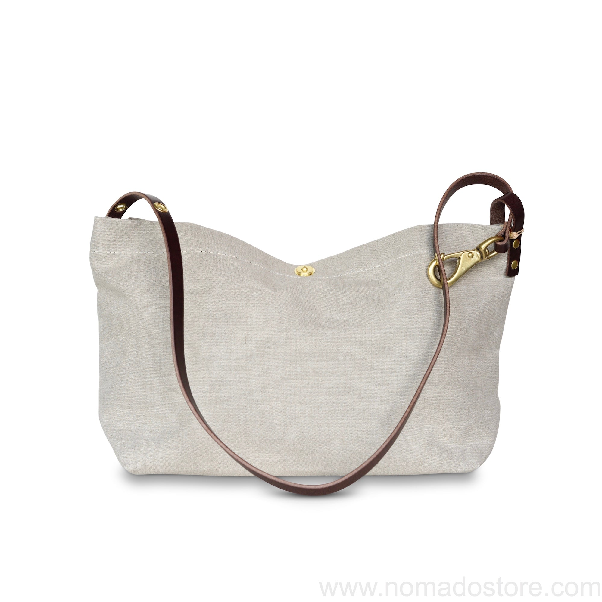 Marineday Fourship Linen Canvas Shoulder Bag (Natural) - NOMADO Store