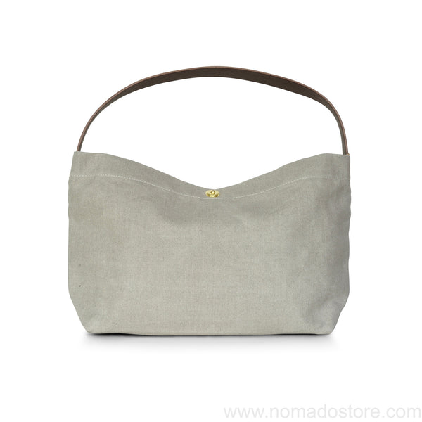 Marineday Shipfly Linen Canvas Shoulder Bag (Natural) - NOMADO Store